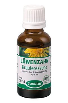 Löwenzahn <br /> Kräuteressenz, BIO<br /> Alkoholischer Kräuterauszug (30 ml)