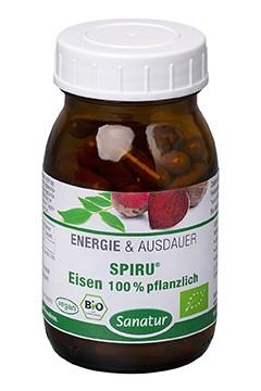 SPIRU®<br /> Eisen 100% pflanzlich<br /> BIO, 90 Kapseln (45 g)