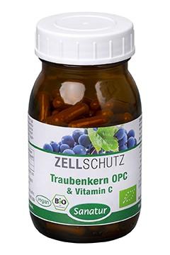 Traubenkern OPC & Vitamin C <br /> BIO, 90 Kapseln (49 g)